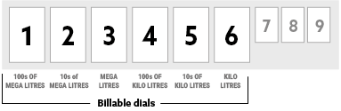 Dial showing first 4 digits as billable items