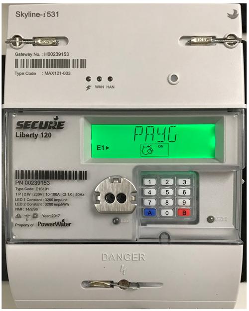 Prepayment meter example
